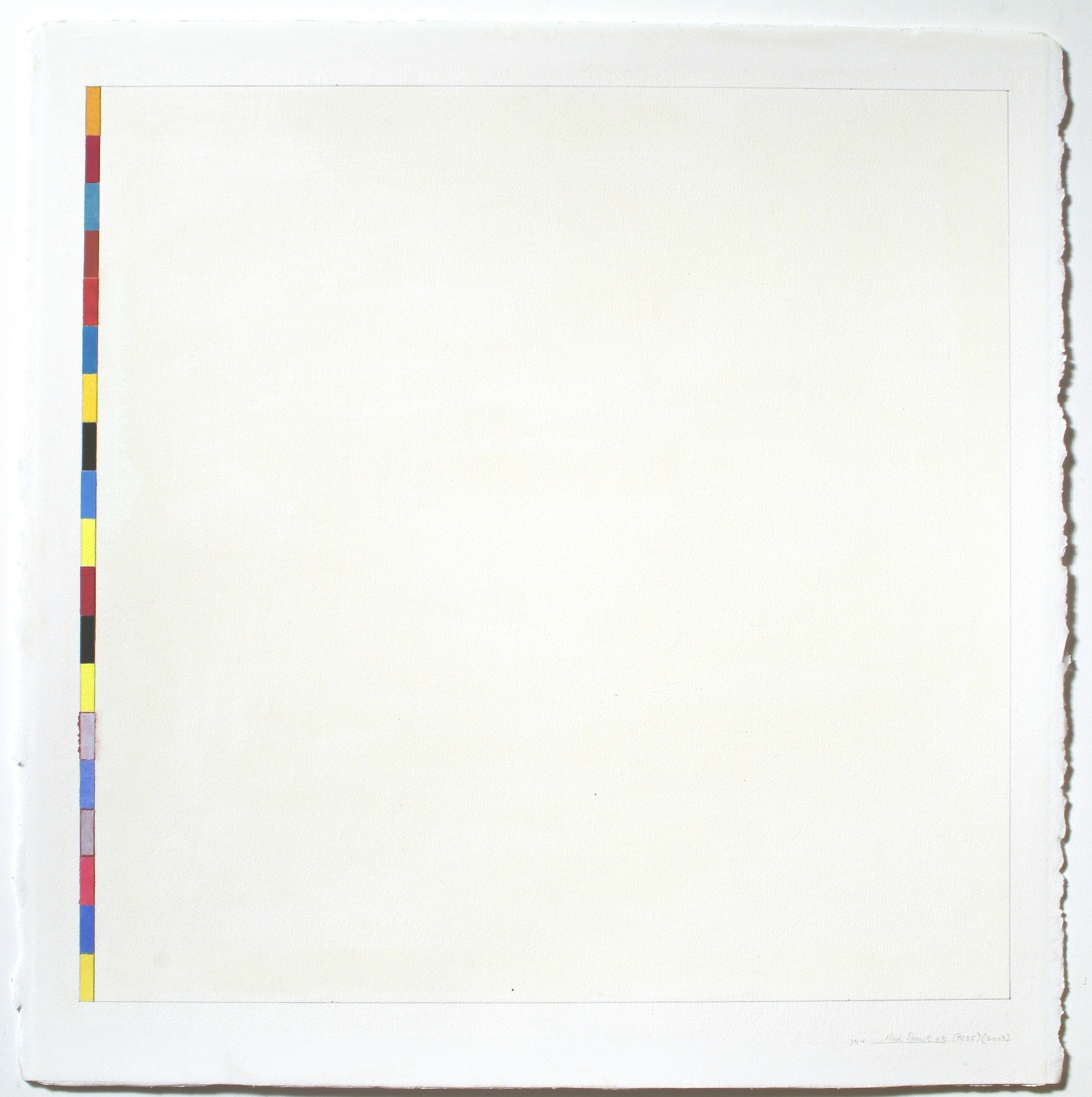 """Untitled (PG35), 2003, gouache on paper, 20 1/8""""x20""""(image), 23 3/8""""x23 1/8""""(paper)"""""""