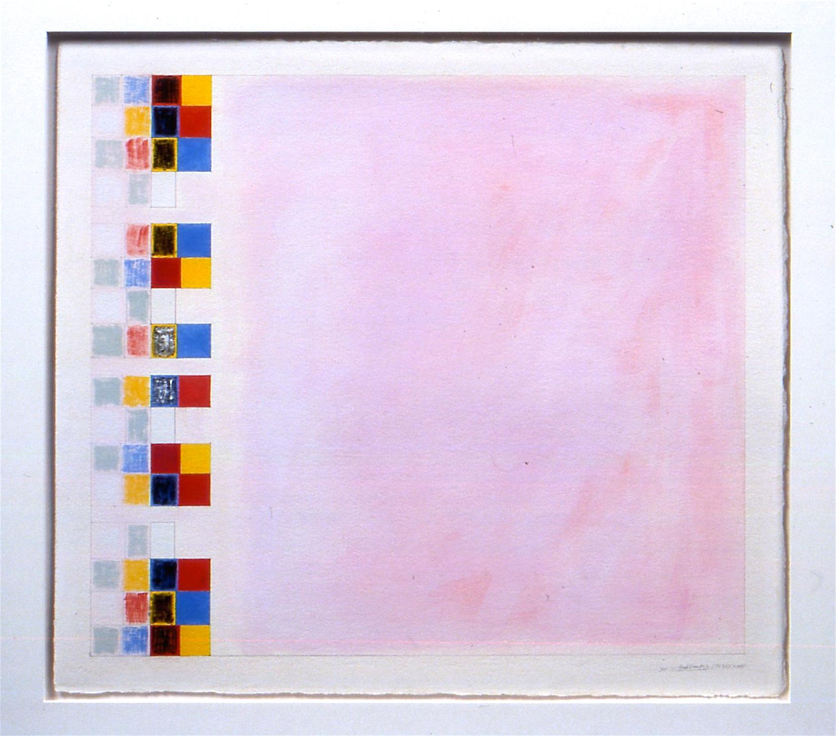 "Untitled... Red Desert, etc. IX (PG33). 2003, gouache on paper, 20 3/16""x23 3/16""(image), 22 5/8""x26"" (paper)"