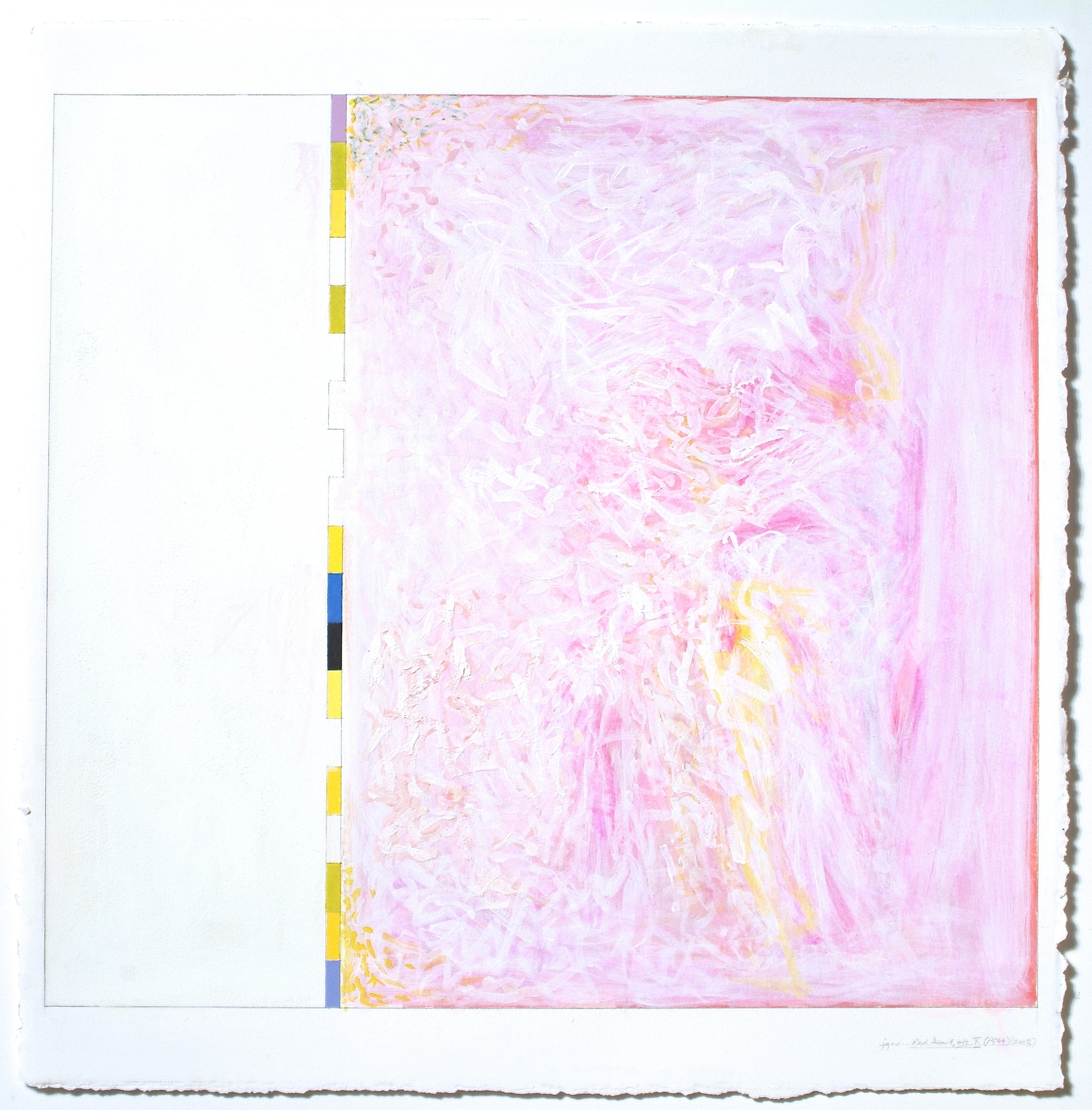 """Untitled... Red Desert, etc.X (PG34), 2003, gouache on paper, 20 3/16""""x21 15/16""""(image), 30 1/8""""x22""""(paper)"""