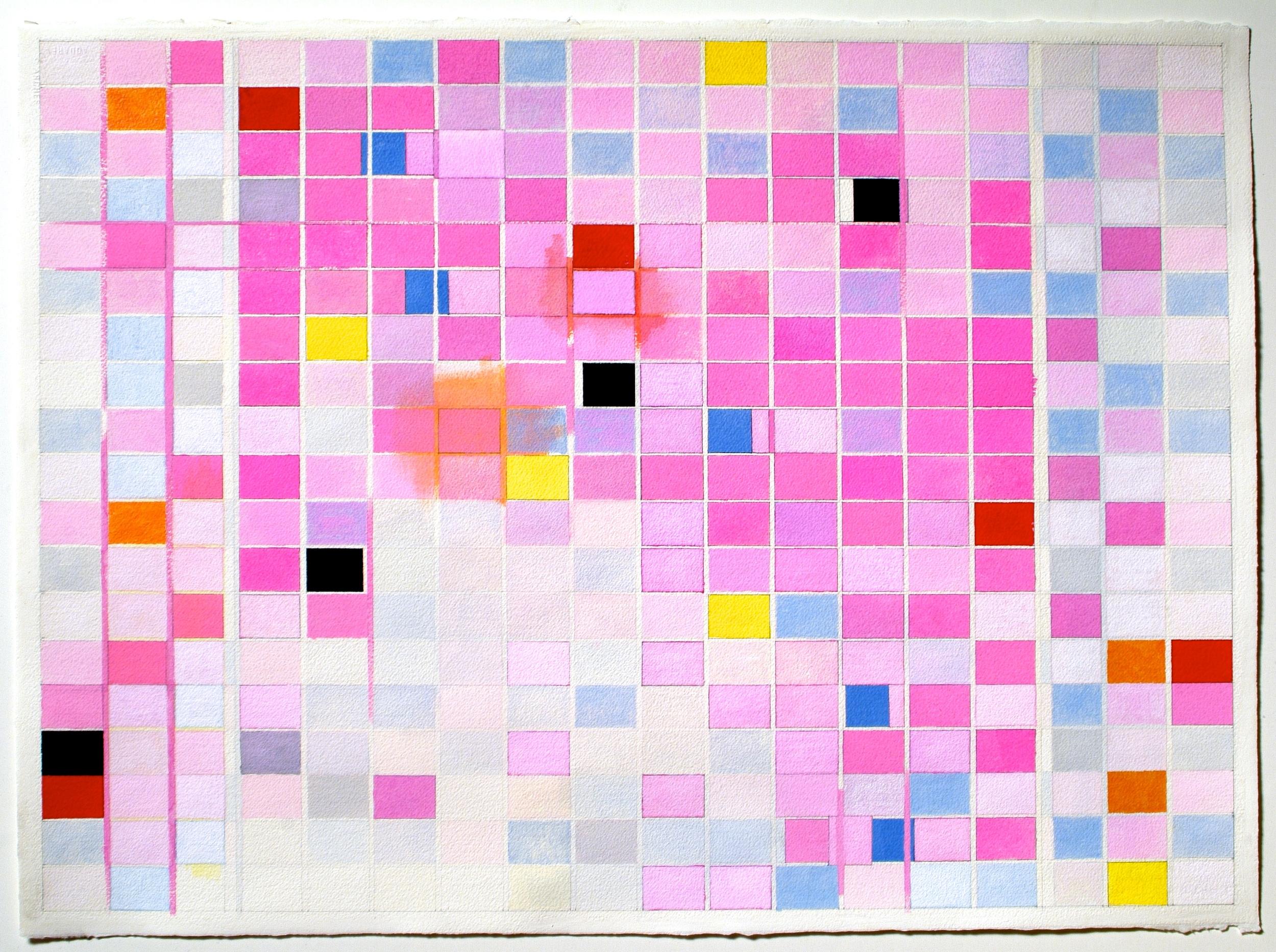 "Balanchine Mahler (PG37), 2004, gouache on paper, 21""x29"" (image), 22""x30"" (paper)"