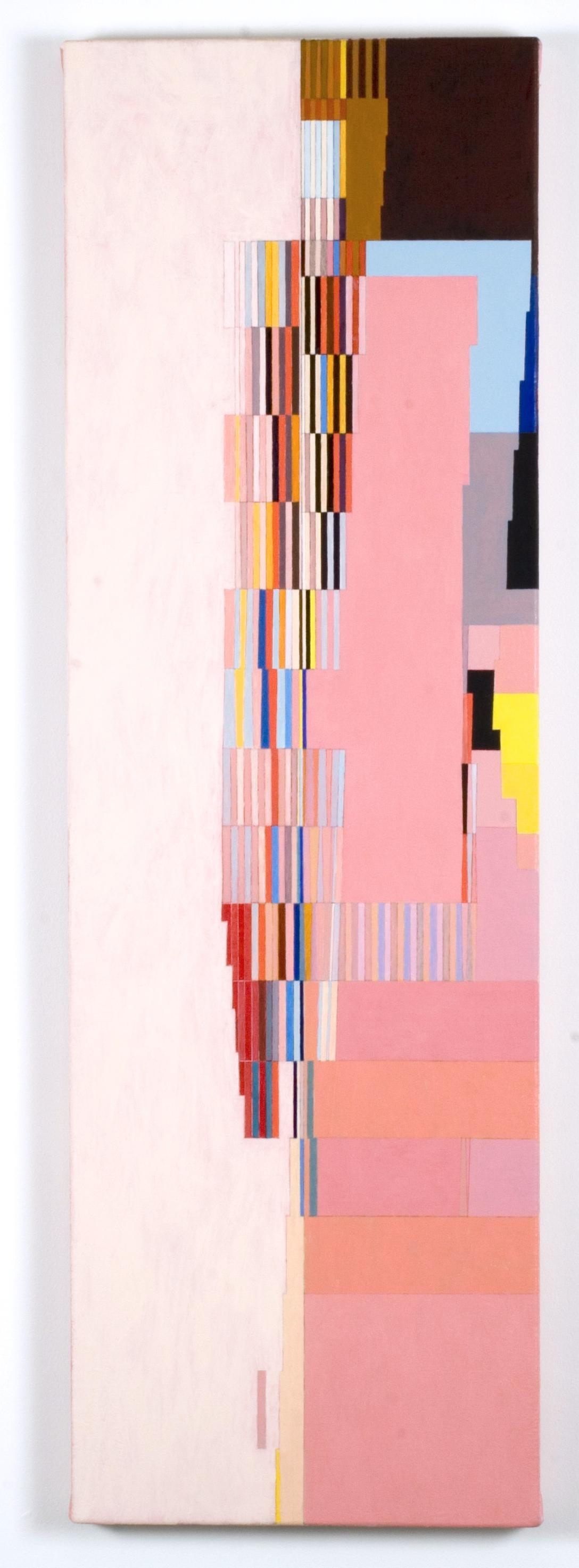 "Embu, 2005, gouache on paper, 42 3/4""x13 1/2"""