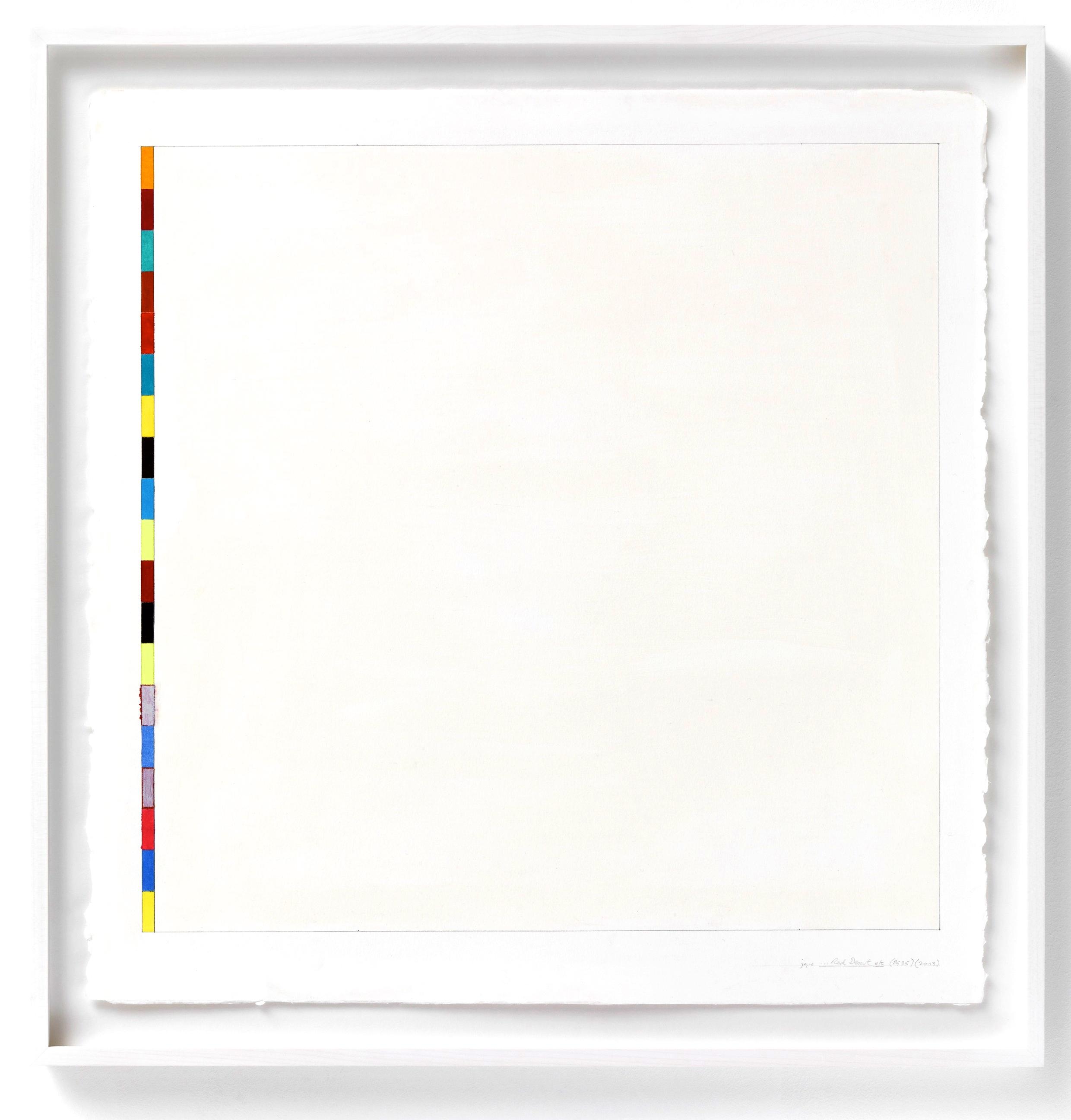 """Red Desert (PG35), 2003, gouache on paper, 23""""x23 1/2"""""""