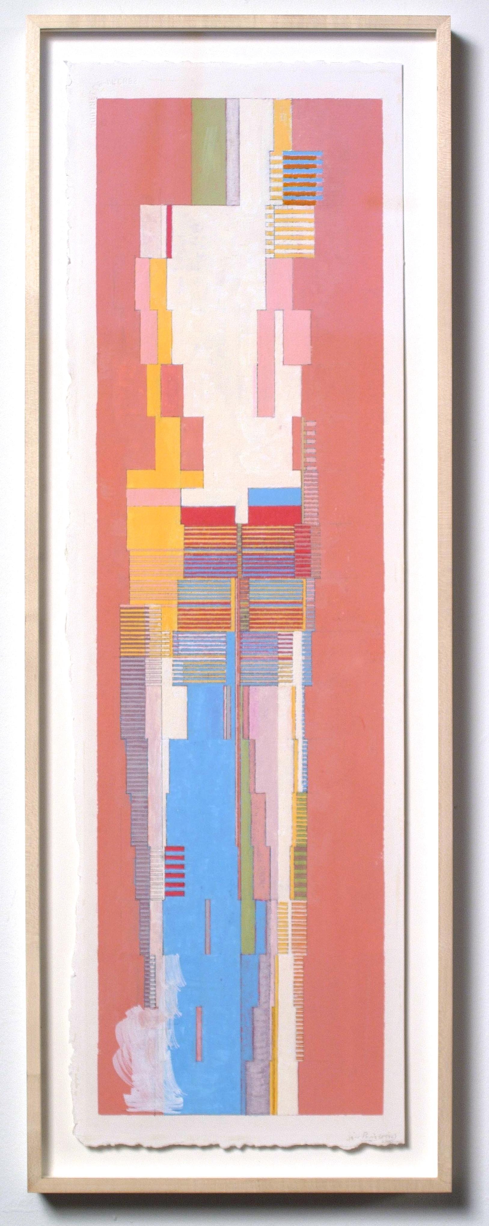 """Paris (PG46), 2005, gouache on paper, 13 1/2""""x28 1/2"""""""