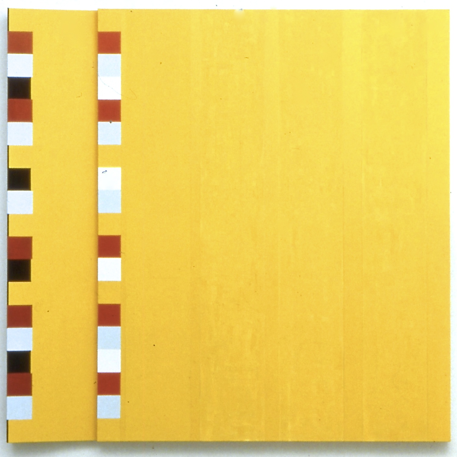 "Outside, Outside Again (Forwards, Backwards), 1990, oil on linen, 95""x95 (diptych)"