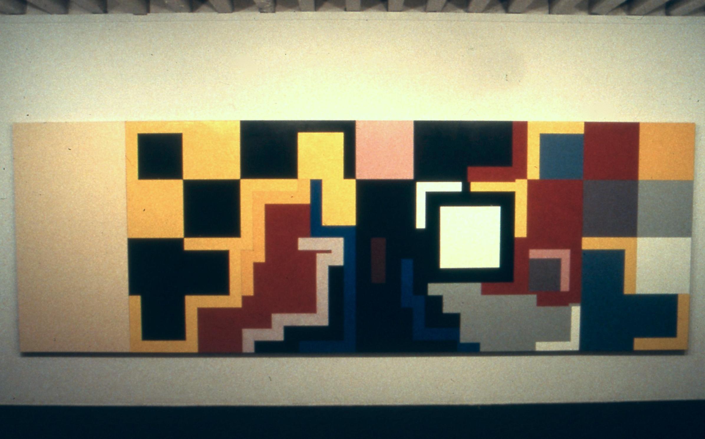 """Finn. 1979. Oil on canvas. 66.5"""" x 199.5"""""""
