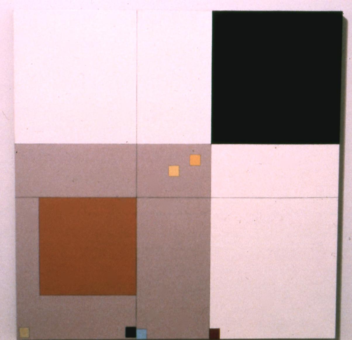 """U.C., 1981. oil on canvas. 38.5""""x38.5"""""""