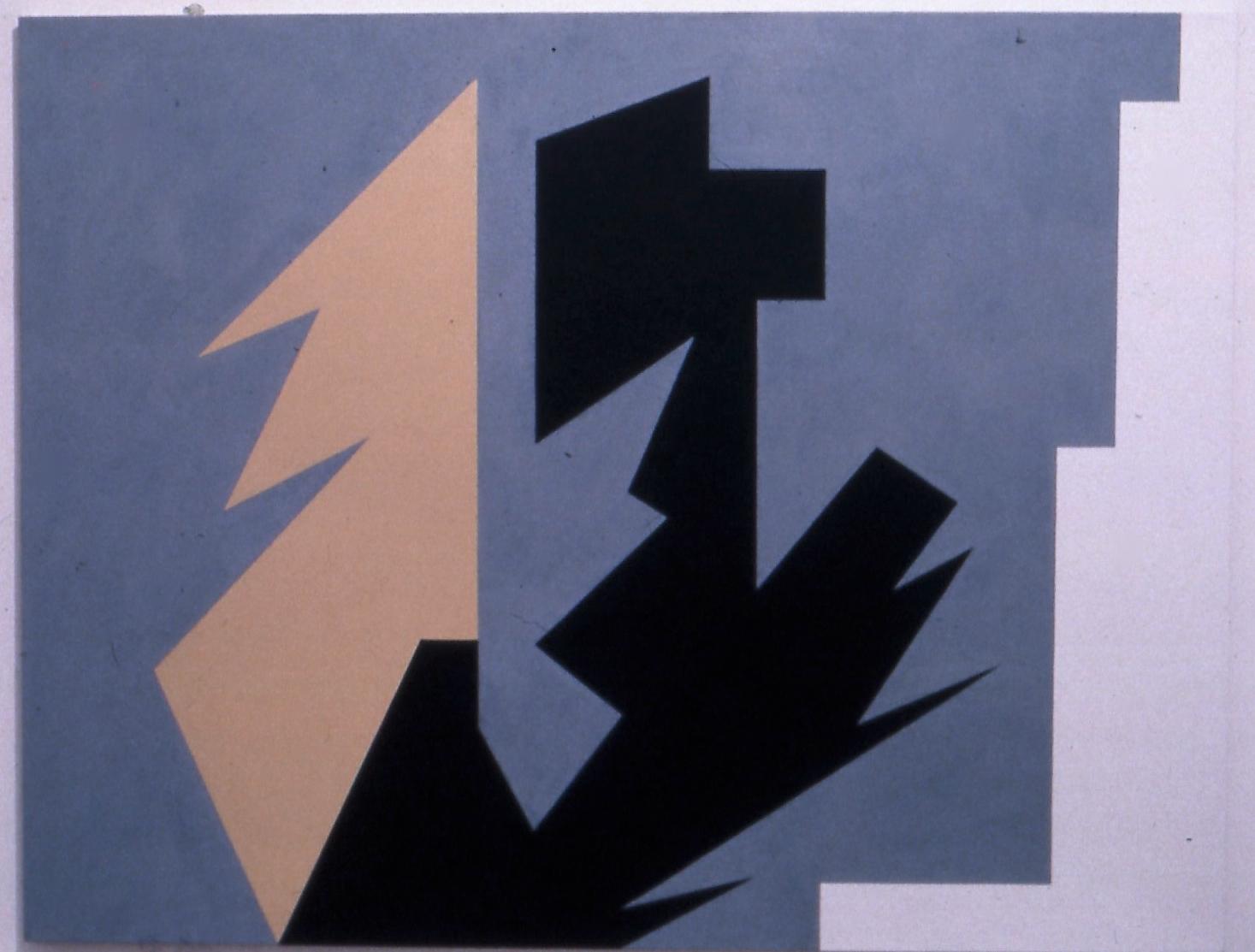 """Decision, 1982, oil on linen. 48""""x63"""""""