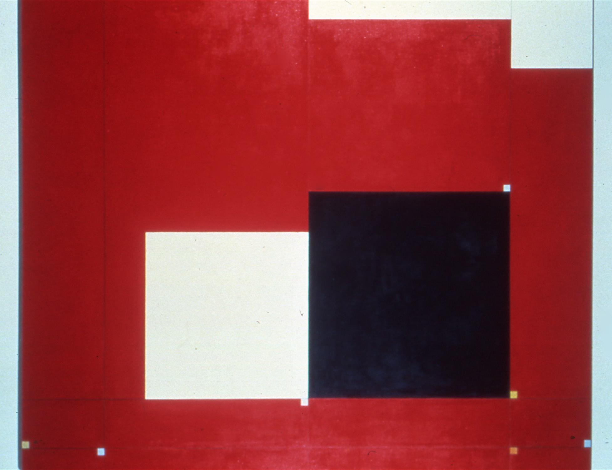 """Baldessari, 1982. oil on linen 72""""x84"""" (John Weber Gallery"""
