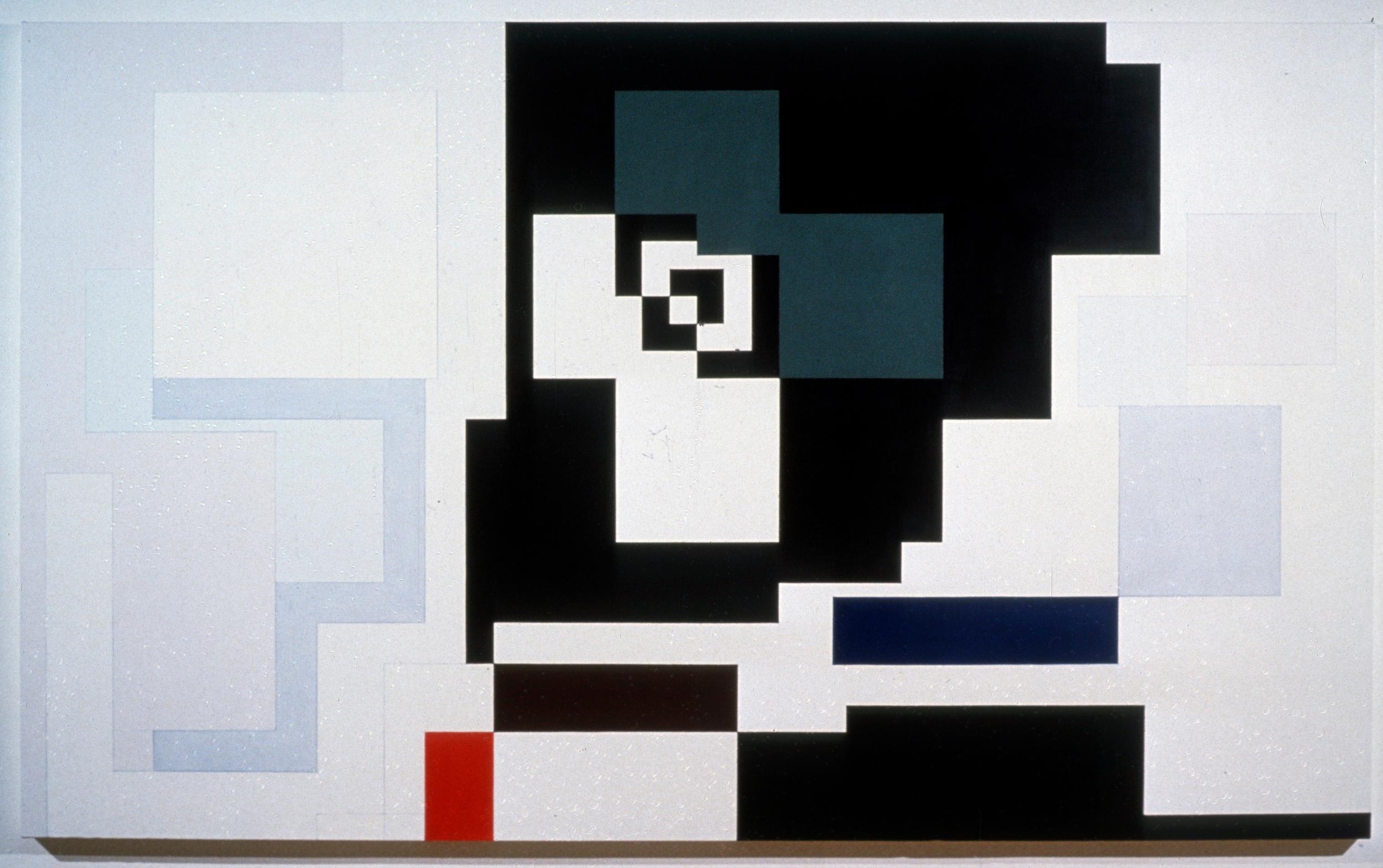 """Hugo Grotius 1613 (for Paula), 1978-9, oil on canvas, 60""""x100"""""""