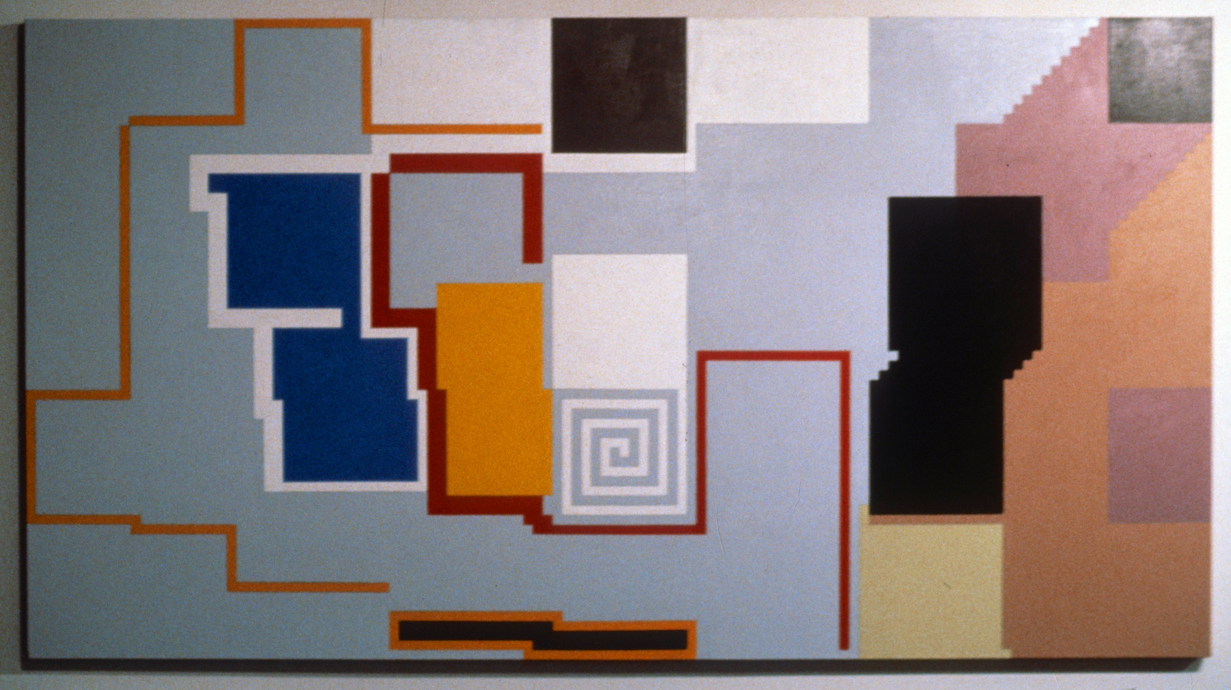 "Dutchman, 1980. oil on linen, 58 3/8""x108.5"""