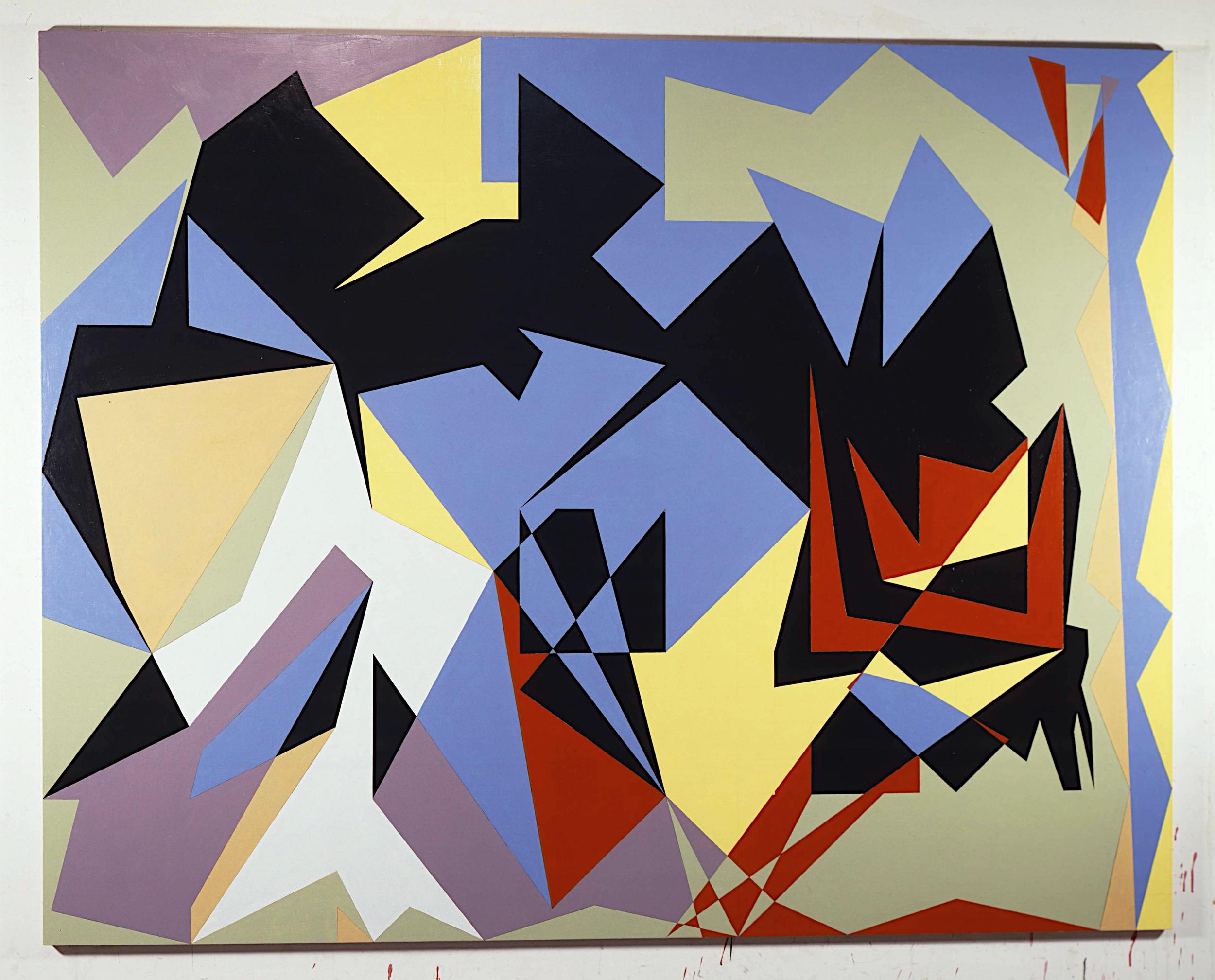 """Silence, 1983-4. oil on canvas. 75""""x93"""""""