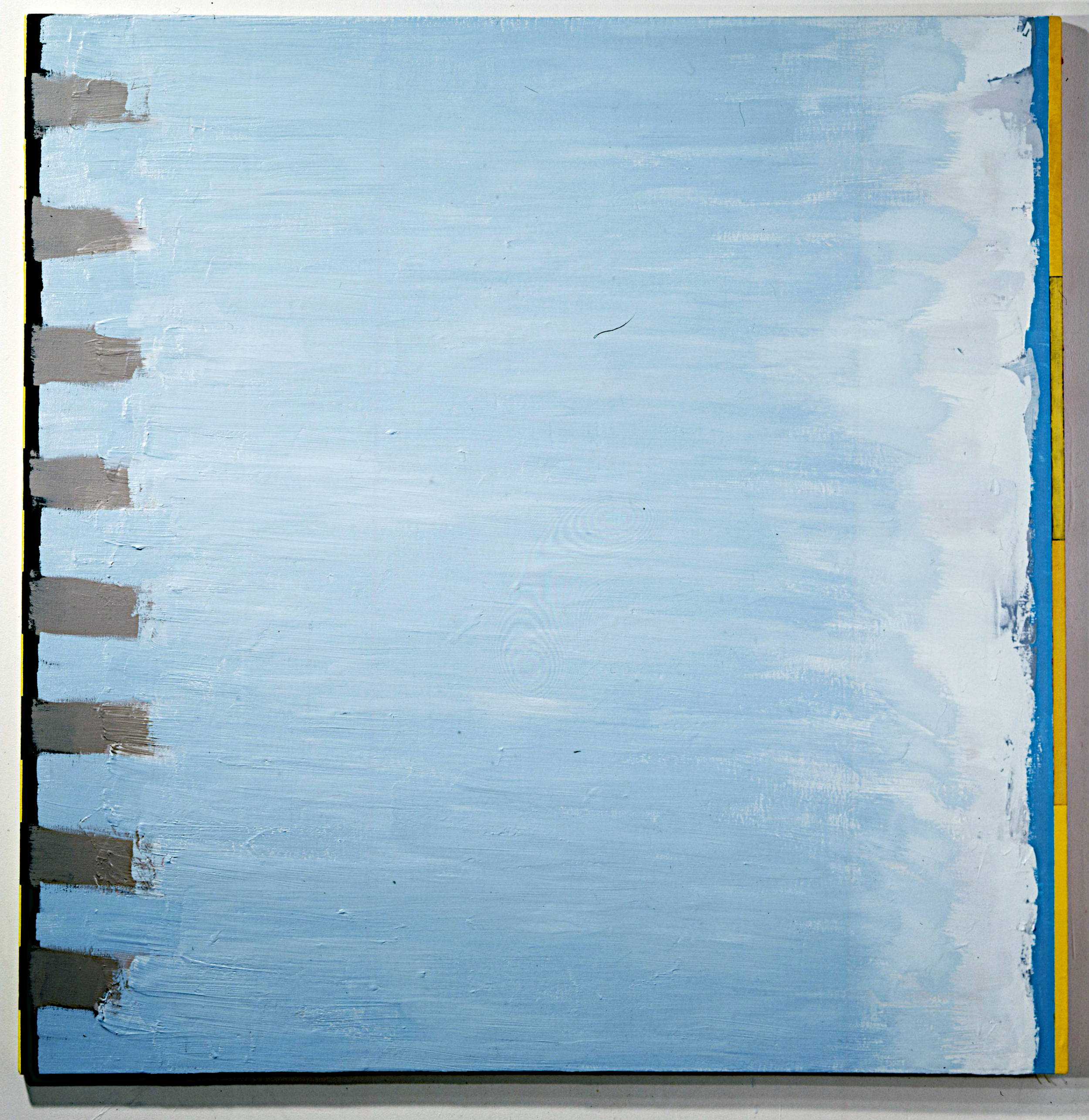 "Baltic Meaning, 1988-89. oil and vinyl on linen. 68""x68"""