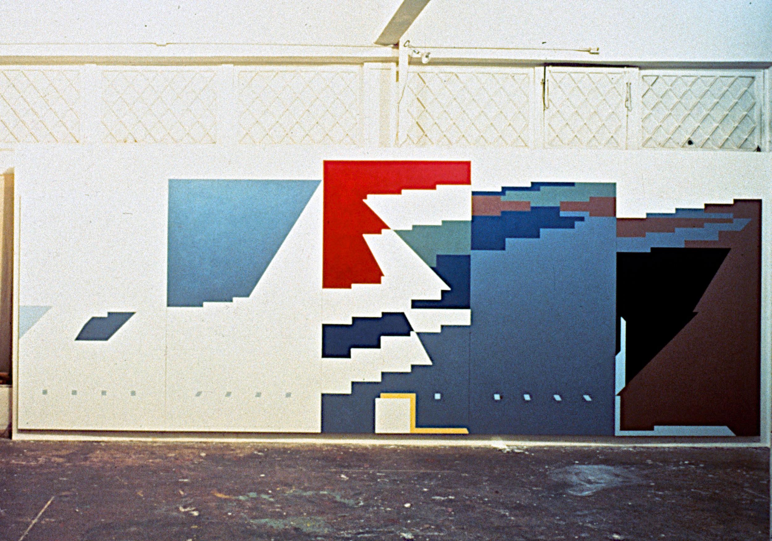 "Masurian Lakes, 1981-82, oil on canvas. 9'2""x25'"