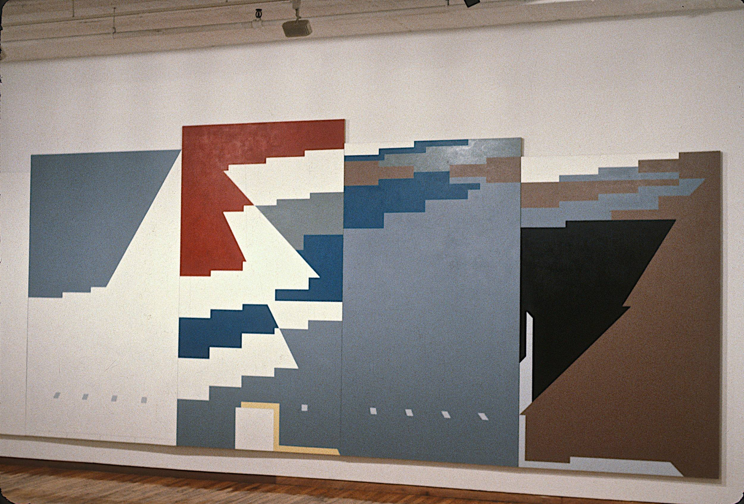 "Masurian Lakes, 1981-82, oil on canvas. 9'2""x25'. (detail)"