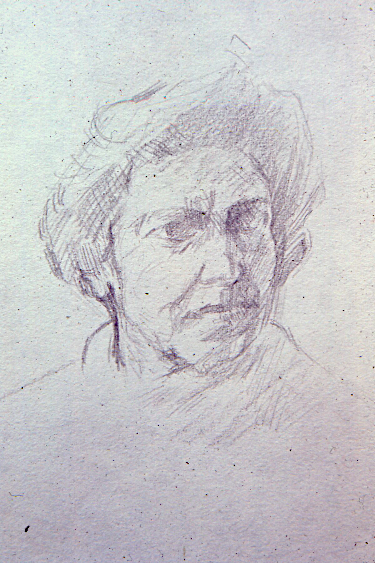 "Pencil Drawing, 1969. 12""x8""approx"