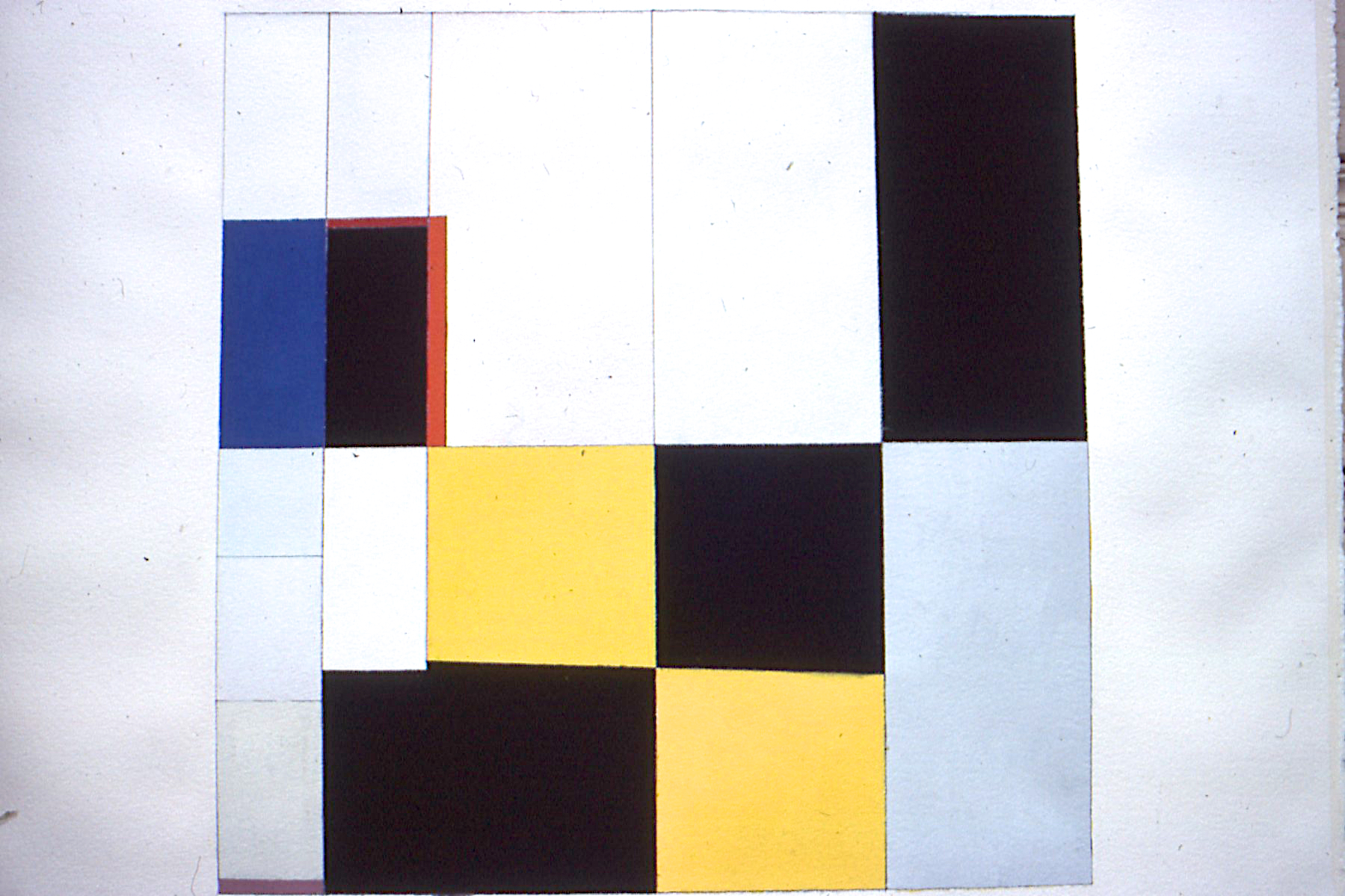 "Untitled, 1980. gouache on paper. 25""x25"""