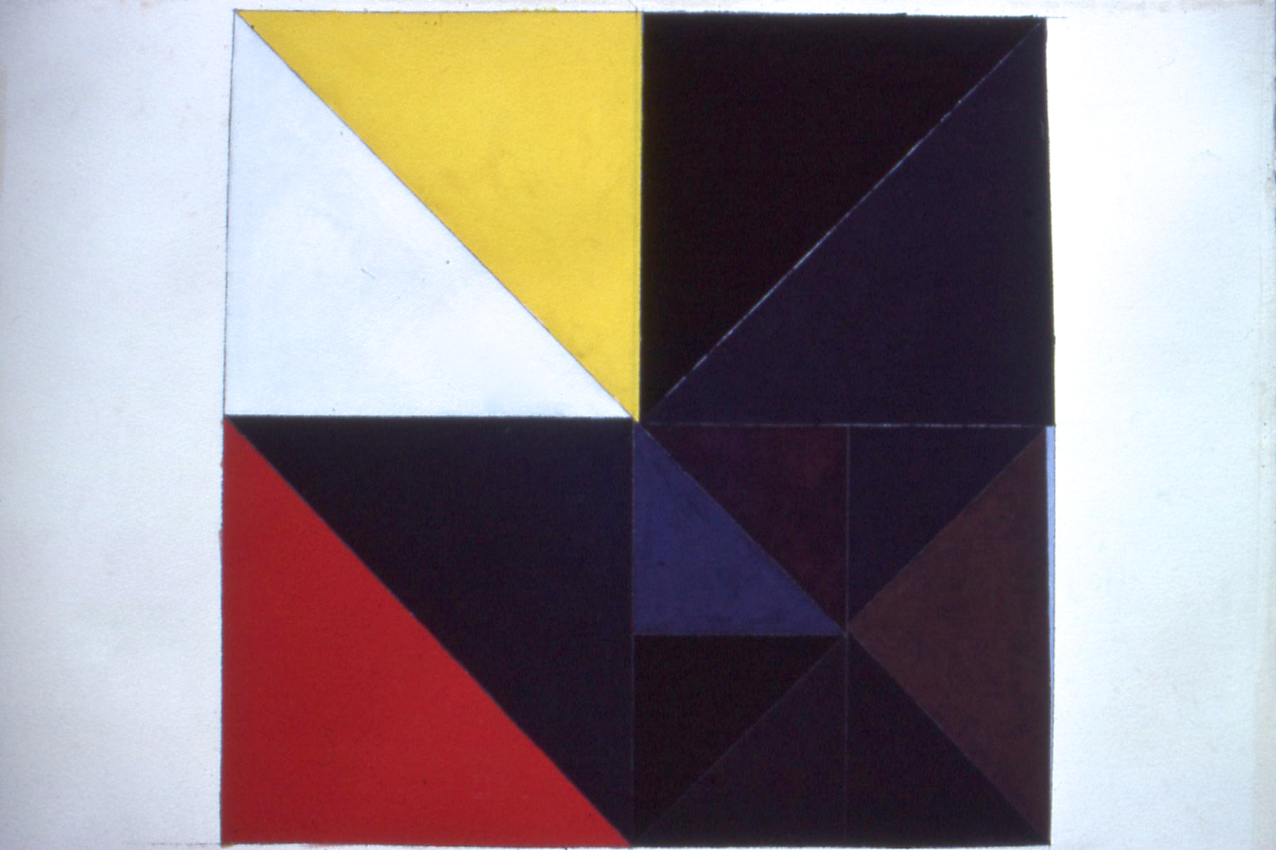 """Untitled, 1987. gouache on paper. 25""""x25"""""""