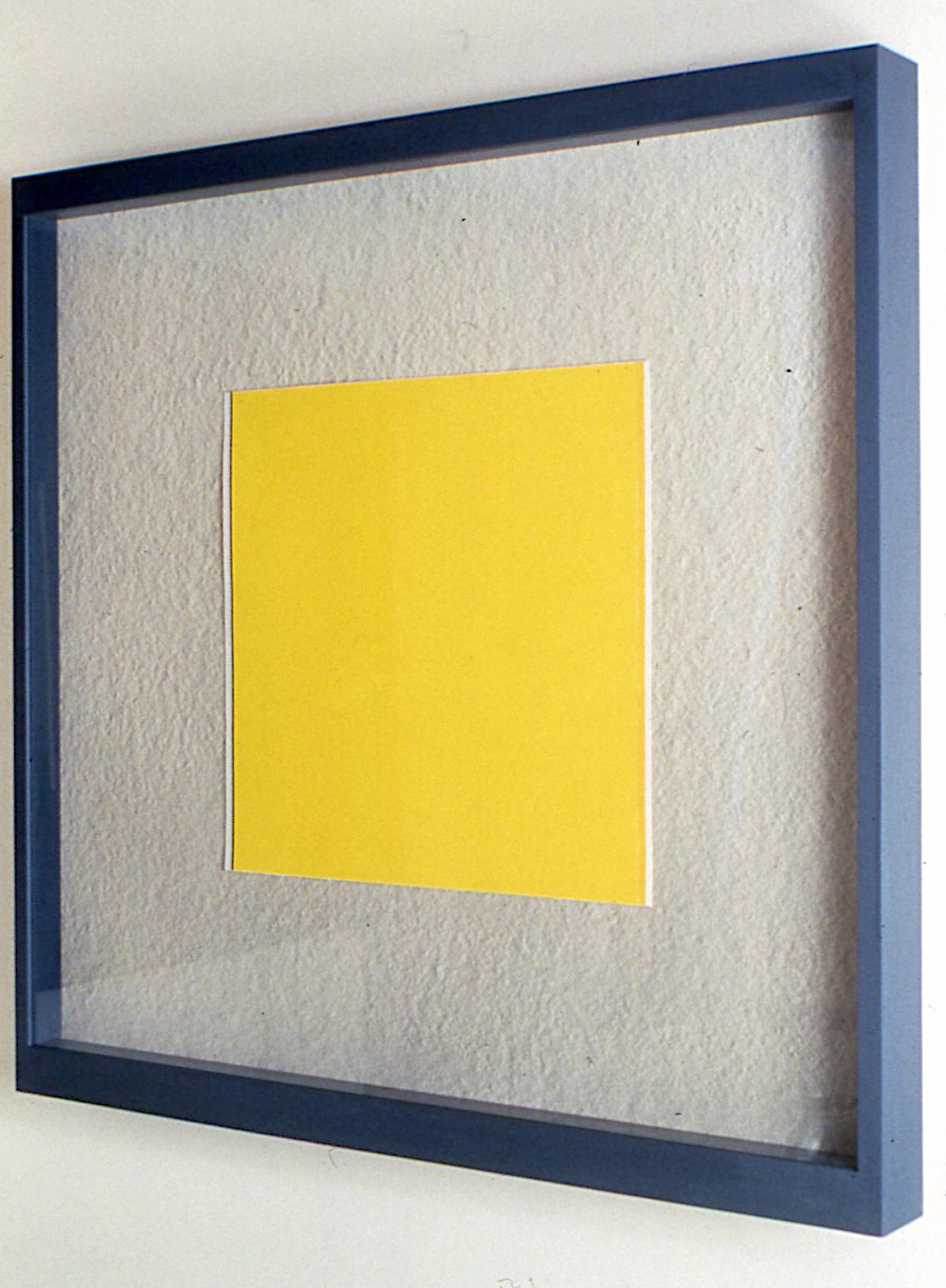 """Leftward Seduction, 1988, Gouache and photo frame, 38""""x38"""" detail"""