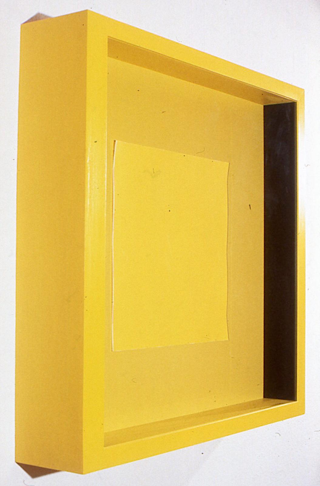 """Depth Seduction, 1988. mixed media gouache photo plexi frame. 47""""x47""""x4"""" detail"""