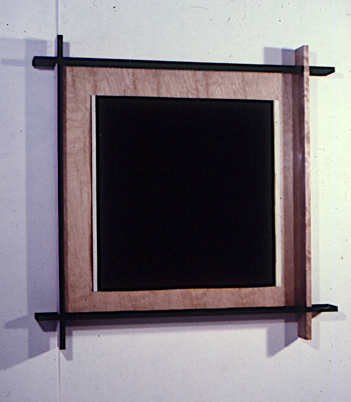 """The History of Material Truth, 1988. Gouache and Frame. 42.5""""x42.5""""x3.5"""""""