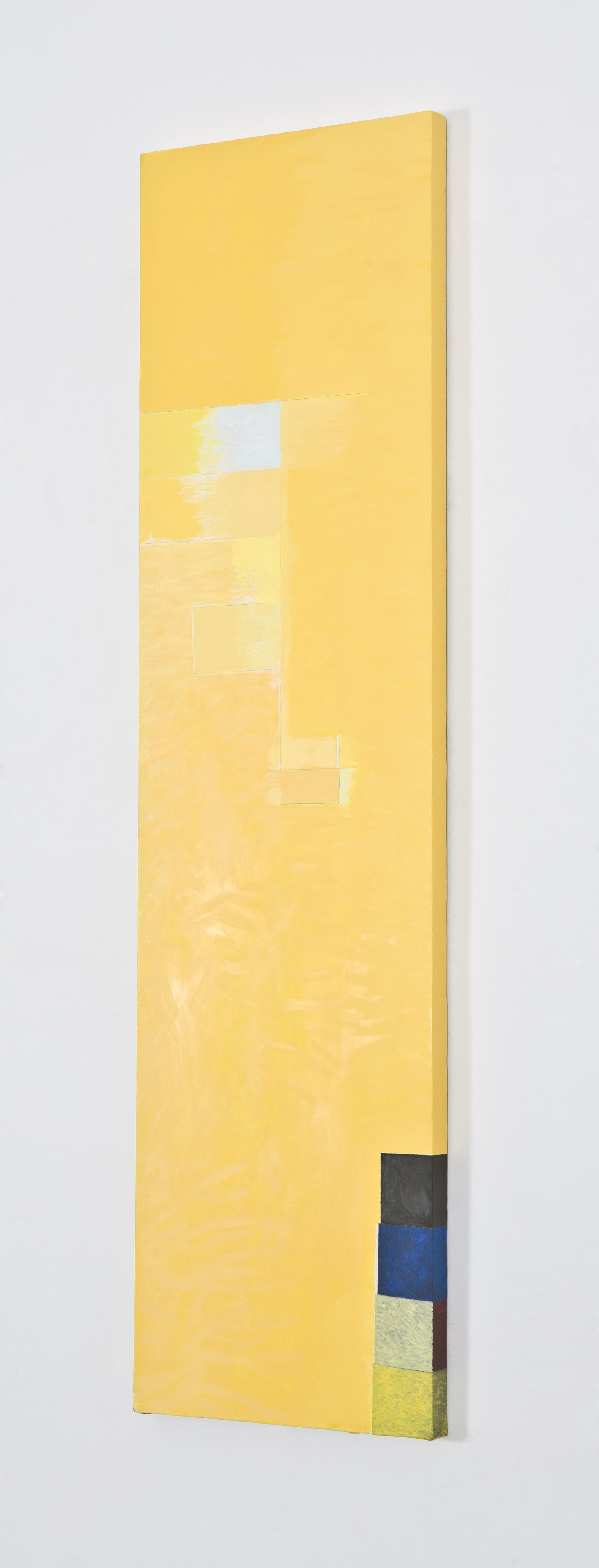 """Breathless, 2012, oil on linen, 66 1/2""""x17 1/2"""" (detail)"""