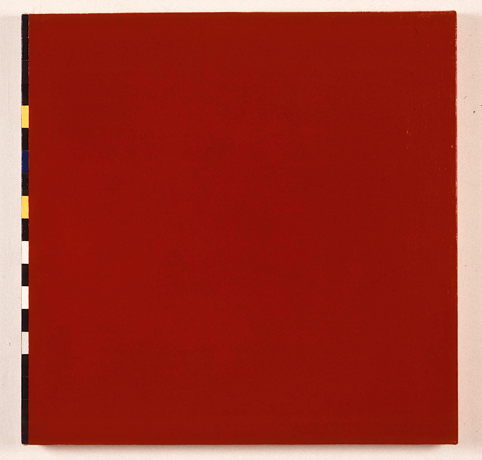 "Red Space, 1991. oil linen. 28.5""x28.5""x2"""