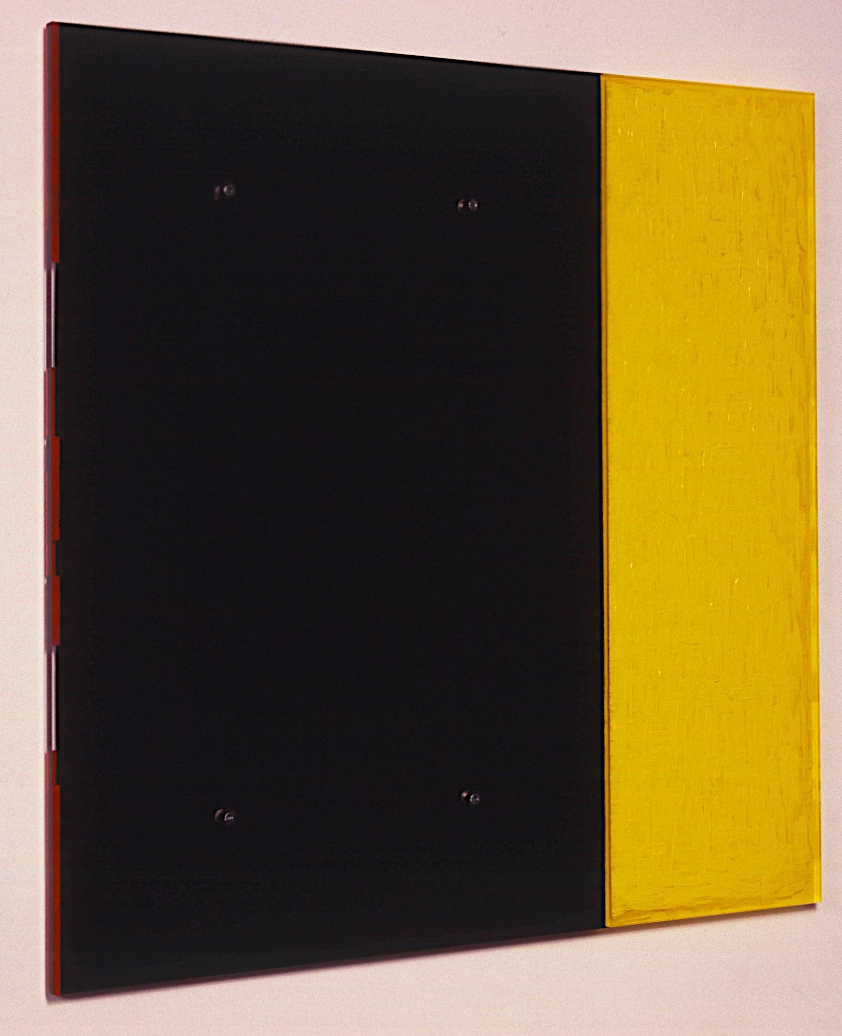 """Untitled, 1991. vinyl on plexi, 28""""x28""""x7/8"""" (Detail)"""