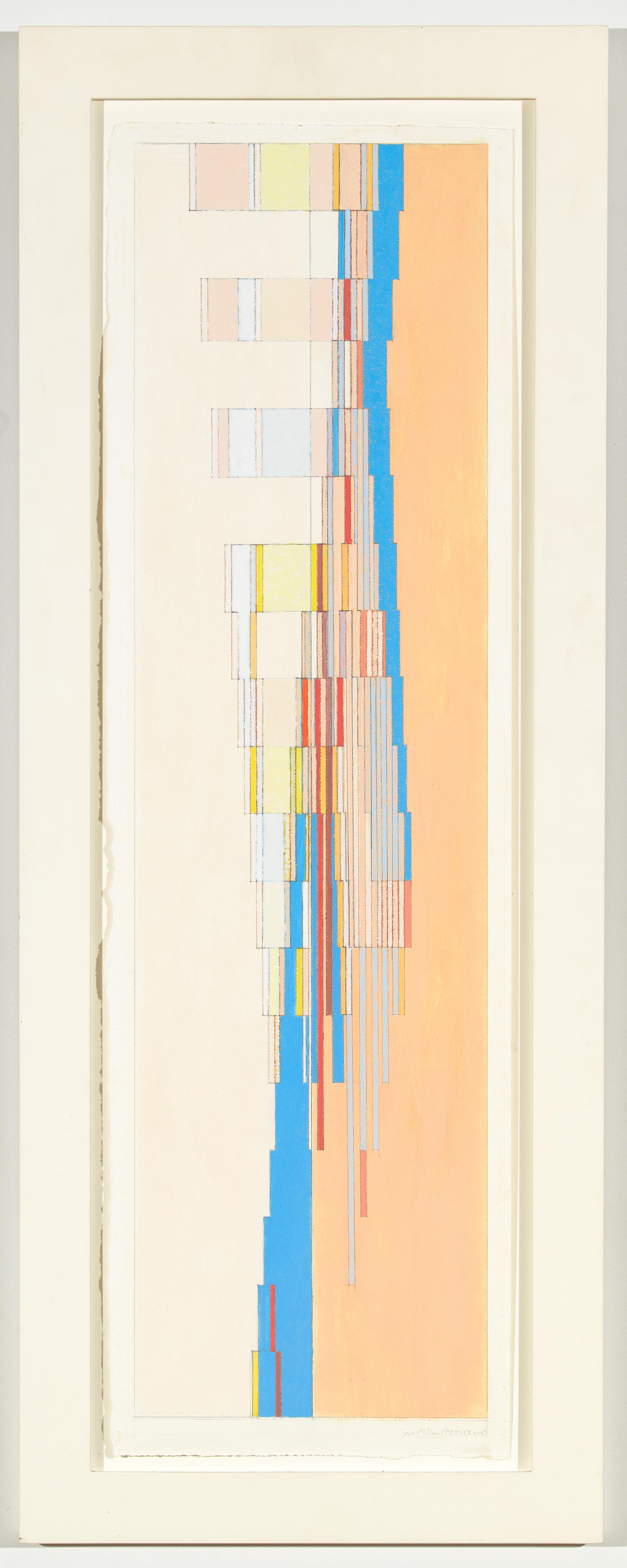 """Milan (PG 51), 2005, 28 6/8"""" x 8"""" (image), 30""""x 9""""(paper), 34 1/8""""x 13 ¼"""" ( frame)"""