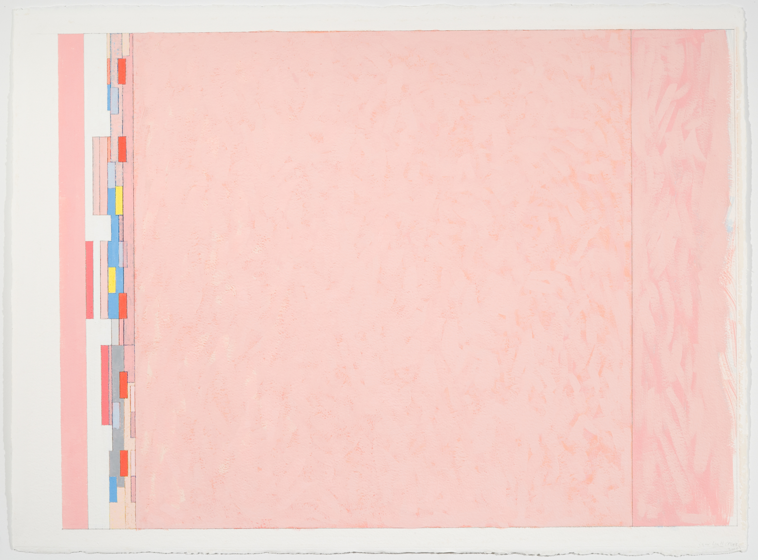 """Wall (PG 48), 2005, 20 2/8"""" x 27 2/8""""(image), 29 6/8""""x 22""""(paper)"""