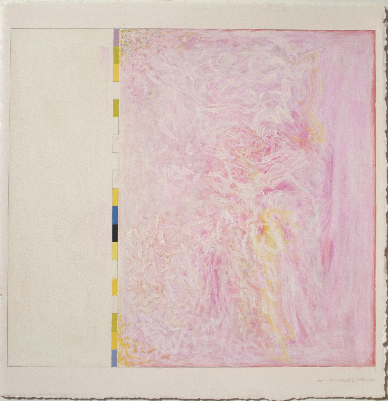 "Untitled…Red Desert, etc.X (PG34), 2003, 20 3/16""x21 15/16""(image), 30 1/8""x22 ¼""(paper)"