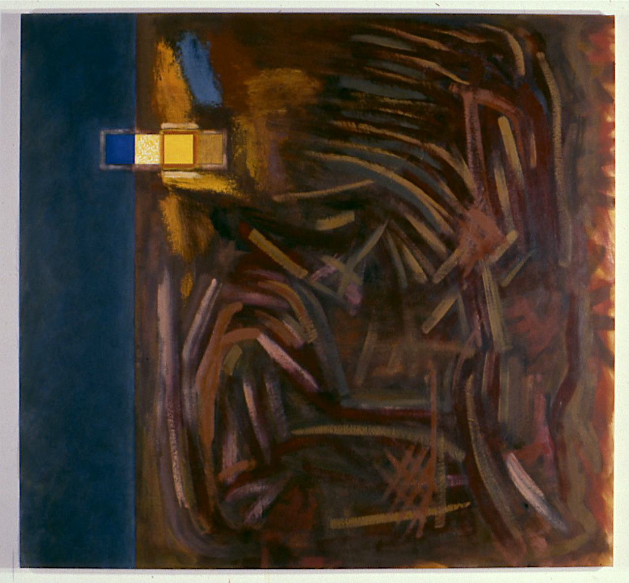 "Space in the Forest, 1997. oil on canvas, 70""x77""x2"""