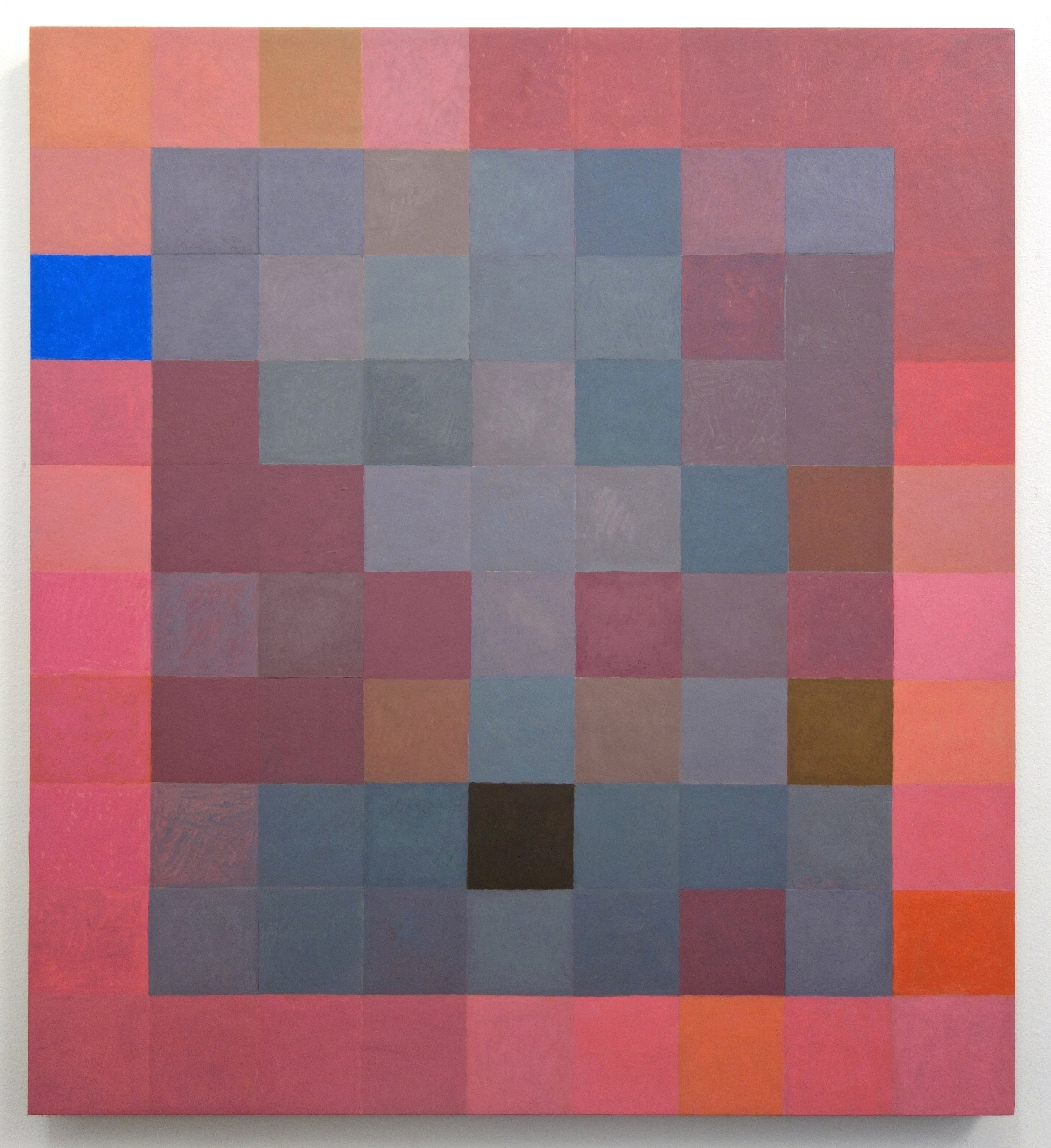 "Foggy Grid, 2015. Oil on Linen. 36"" x 32 5/8"""