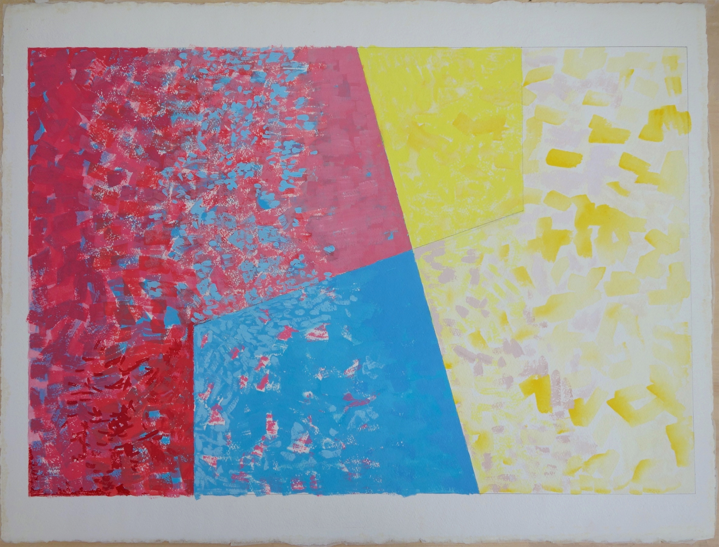 Untitled, (2015) Gouache on Paper. paper 30x22.5; image 28x19 in