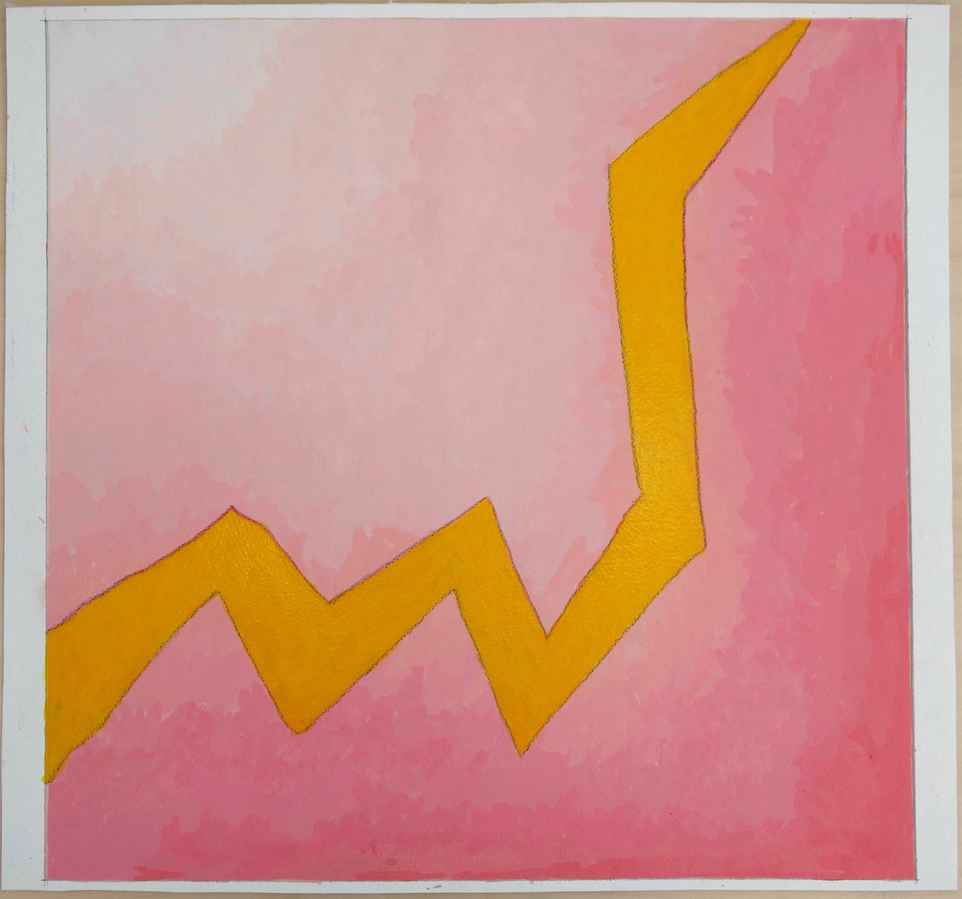 Untitled (2015), Gouache and India Ink on Paper. paper 21.5x23; image 21 x 21.25 in
