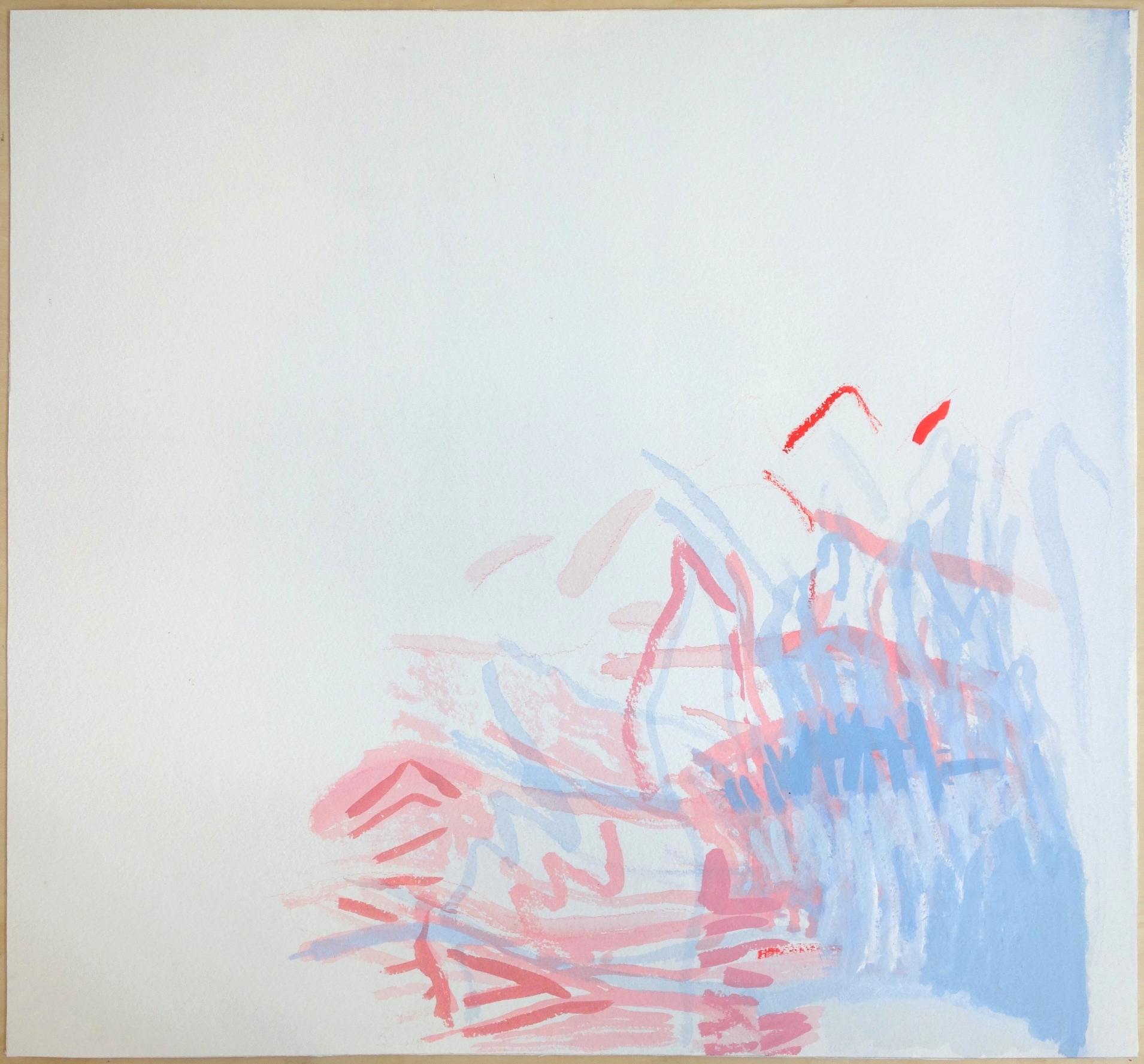 (Untitled) (2014). Gouache on Paper. 23x21.25 in.