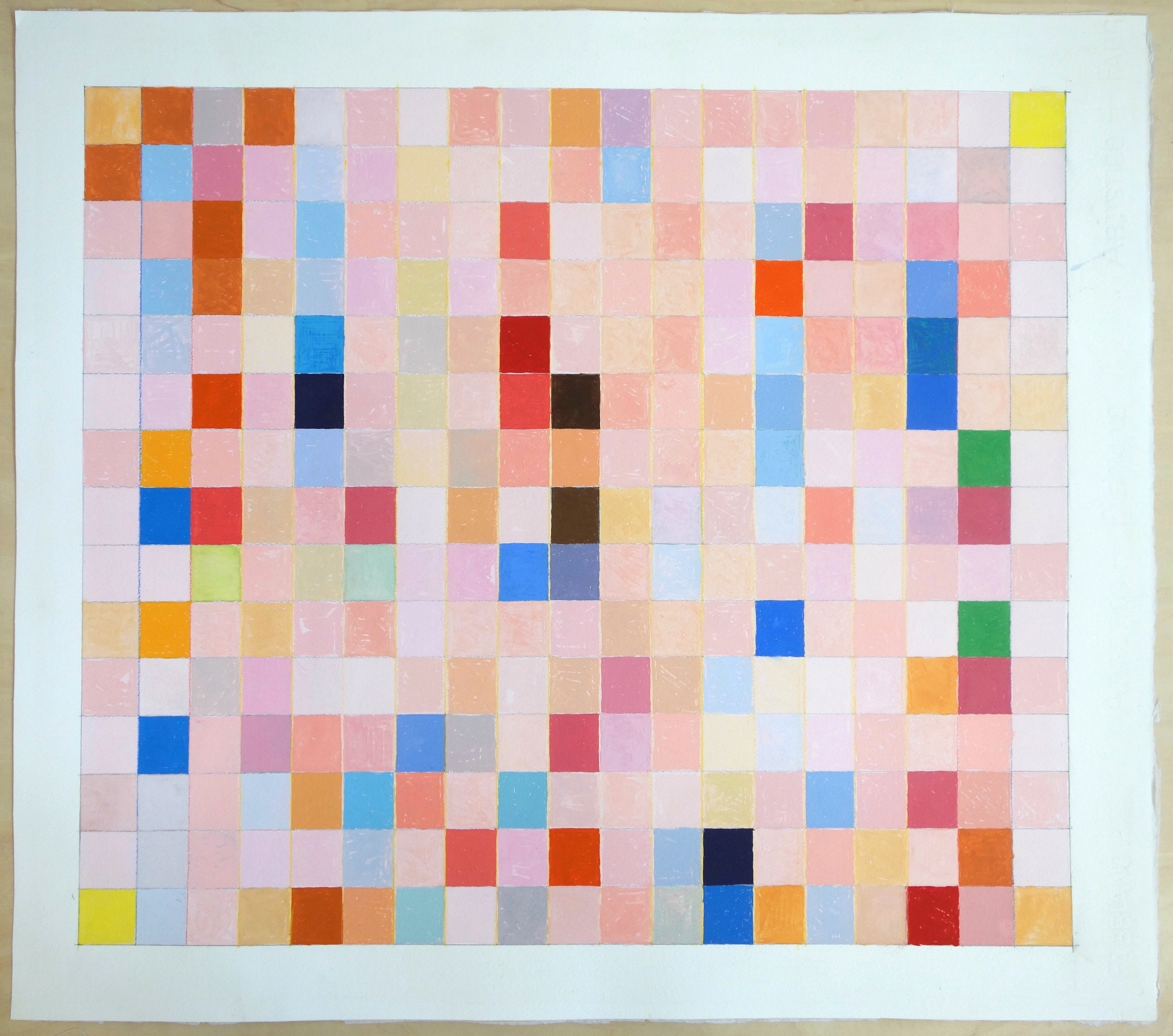 (Untitled) (2013), Gouache on Paper. paper 22x25; image 19x21.5 in.