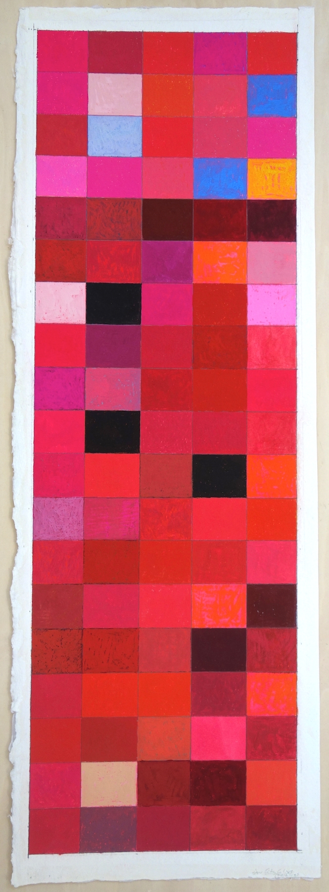 City Colors (2012-13), Gouache on Paper. paper 30 x 10.5; image 28.5 x9 in.