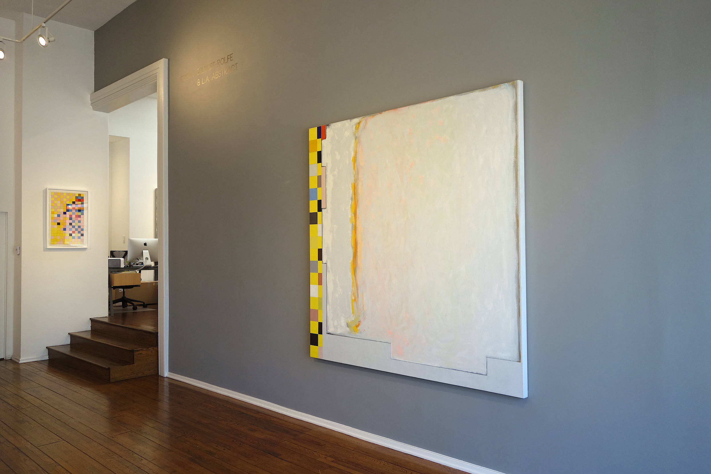 Jeremy Gilbert-Rolfe & LA Abstract, Louis Stern Fine Arts, Installation Shot (Grid, 2012; Grey Genevieve II, 1994)