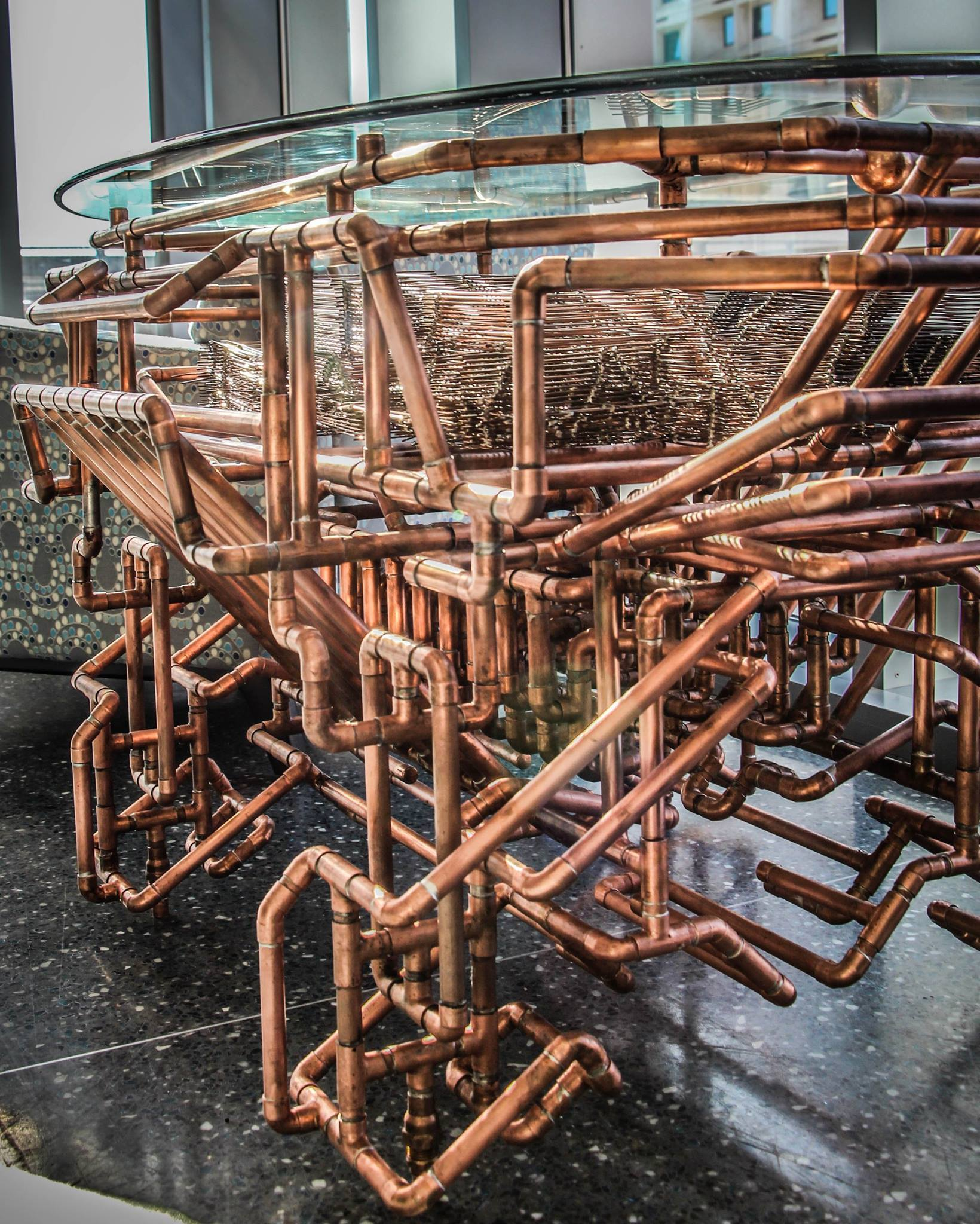Chase copper pipe work table