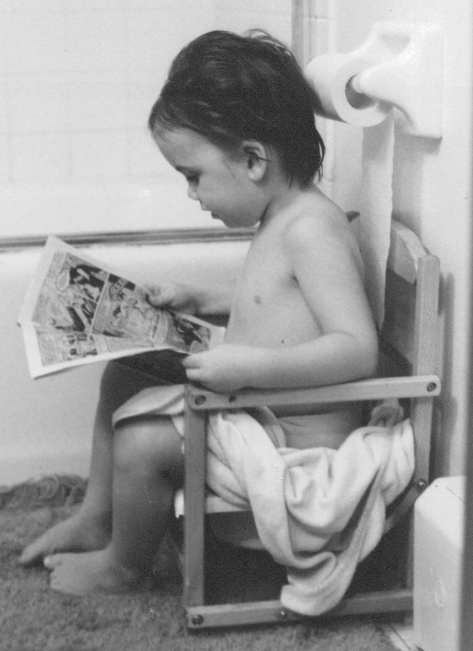If you look closely, you'll see the author is reading a Wonder Woman comic.