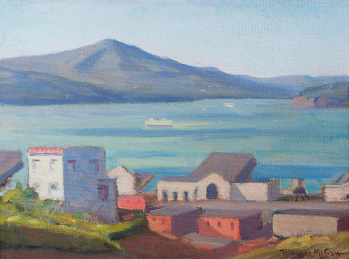 Blanche McGraw  View of San Francisco Bay from Telegraph Hill  12 x 16 inches, oil on board