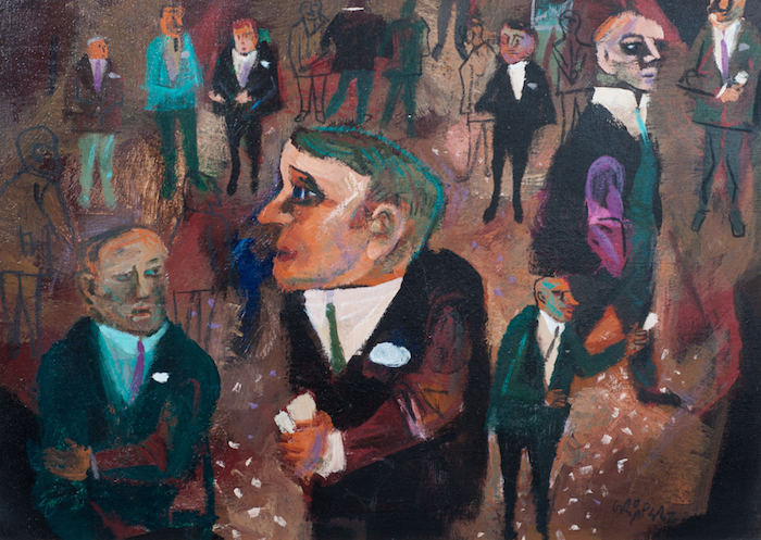 William Gropper  The Market – Buyers and Sellers ,1950 20 x 28 inches, oil on canvas