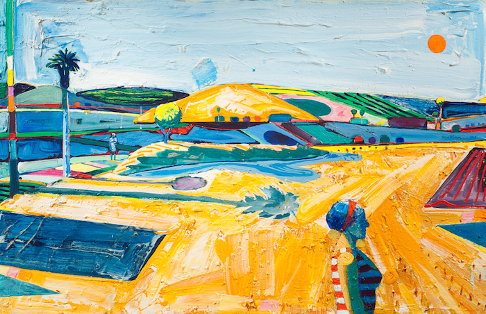 Roland Petersen  The Sand Dunes of Summer , 1968 44 x 69 inches, oil on canvas