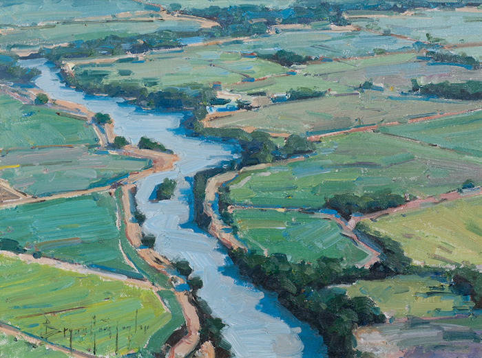 Bryan Mark Taylor  Field and Stream , 2013 12 x 20 inches, oil on panel