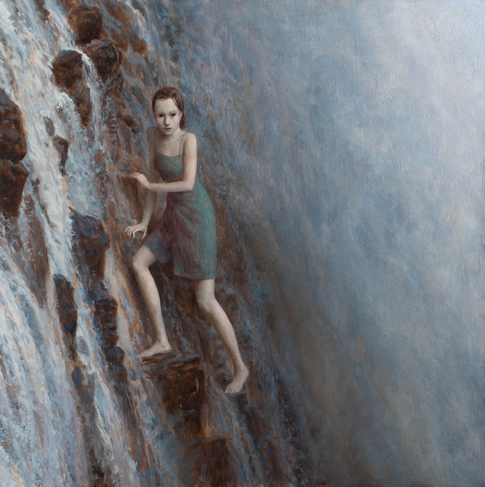 Aron Wiesenfeld  The Falls , 2010 24 x 24 inches, oil on canvas