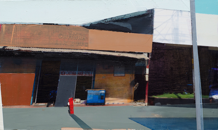 Siddarth Parasnis  Storefront #2 , 2013  5 x 10.5 inches, mixed media on panel