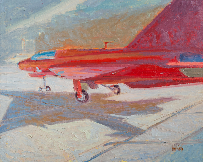 William Wray  Jet Red , 2009 16 x 12 inches, oil on canvas