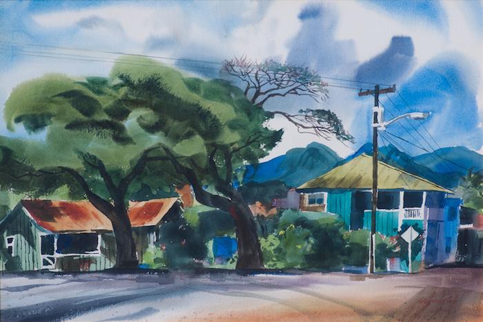 Wayne LaCom  Hanapepe P.M . 14 x 21 inches, watercolor on paper