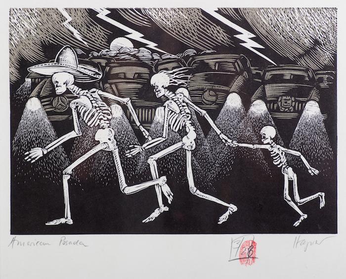 Dirk Hagner  American Posada , 2009 9 x 12 inches, engraving