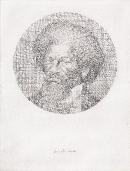 Charles White  Portrait of Fredrick Douglass , 1988 etching